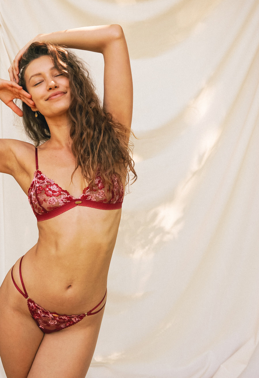 Ruby Triangle Bralette