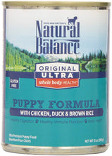 Load image into Gallery viewer, Ultra WBH Chicken, Duck & Brown Rice Puppy Formula Canned Dog Food