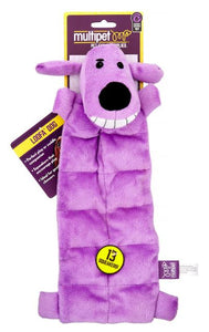 Multipet Loofa Squeaker Mat Soft Plush Dog Toy - 12 inch