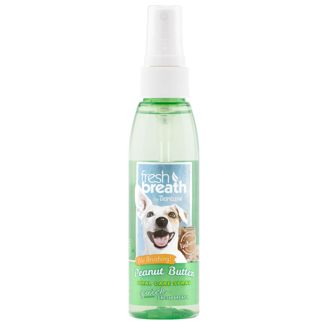 Fresh Breath by TropiClean Oral Care Spray for Pets 4oz