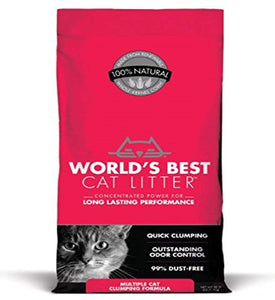 World's Best Cat Litter, Clumping Litter Formula for Multiple Cats