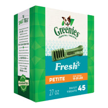 Load image into Gallery viewer, GREENIES Fresh Natural Dental Dog Treats, 27oz Pack