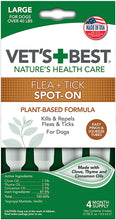 Load image into Gallery viewer, Vet's Best Topical Flea & Tick Treatment for Dogs