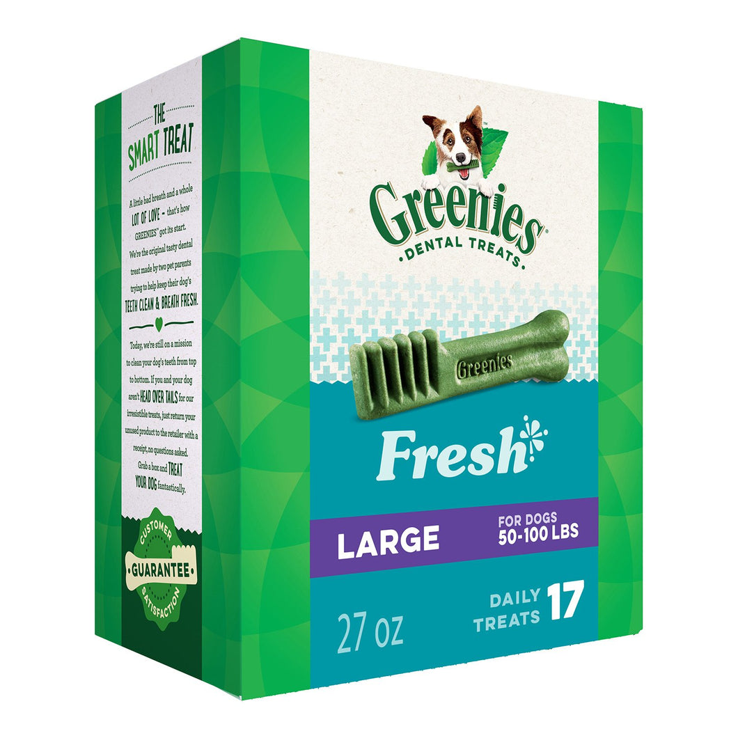 GREENIES Fresh Natural Dental Dog Treats, 27oz Pack