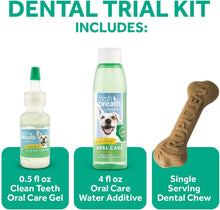 Load image into Gallery viewer, TropiClean Fresh Breath Dental Trial Kit with Bonus Chew