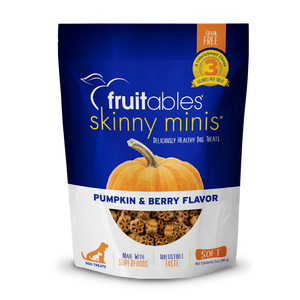 Fruitables Skinny Minis 7 Flavor Soft & Chewy Dog Treats, 5-oz bag