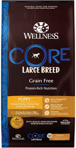 Wellness CORE Natural Grain Free Dry Dog Food, Large Breed Recipe, 24 lb