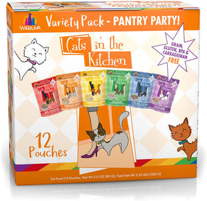 Weruva Cats in the Kitchen Original Pantry Party Pouch Variety Pack 3 Oz 12 Pouches