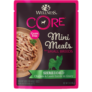 Wellness CORE Natural Grain Free Small Breed Mini Meals 3oz