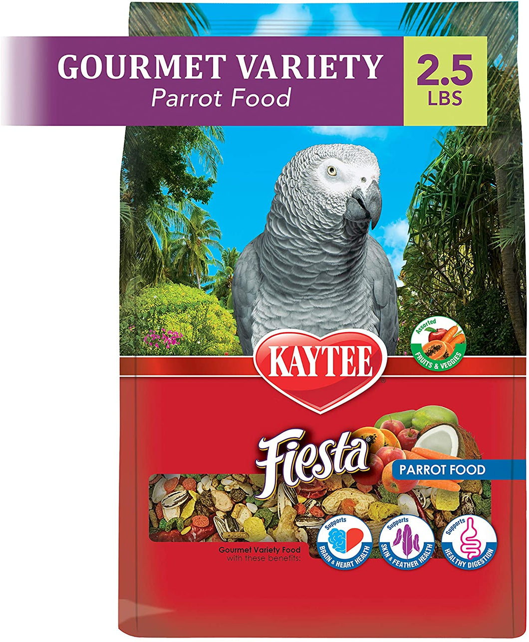 Kaytee Fiesta Parrot Bird Food 2.5lb
