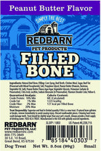 Load image into Gallery viewer, Red Barn Filled Bone Peanut Butter 3""