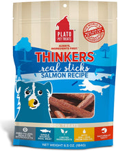 Load image into Gallery viewer, Plato Thinkers Real Meat Sticks Dog Treats - 6.5 0z