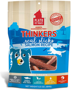 Plato Thinkers Real Meat Sticks Dog Treats - 6.5 0z