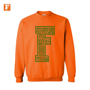 Quote Me-Orange Crewneck