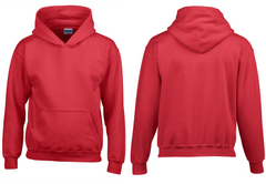 personalised red hoodie kids to adults sizes