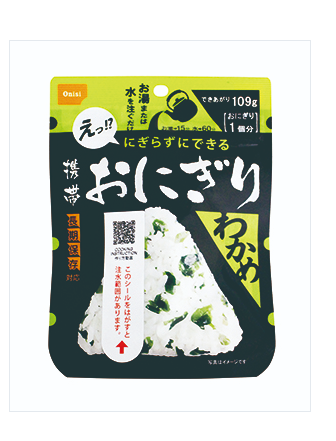 30-Packet Anytime Wakame seaweed Rice Balls[ONI]