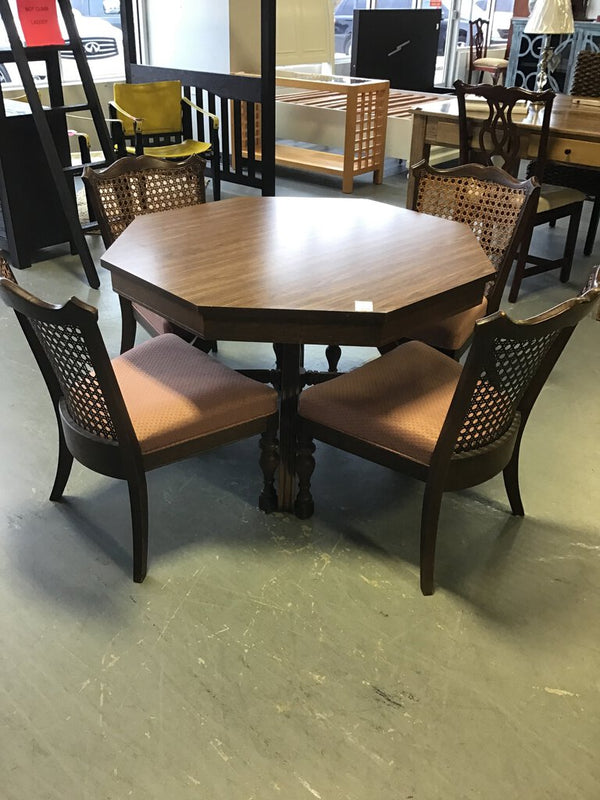 Vintage Game Table w/ 4 Chairs