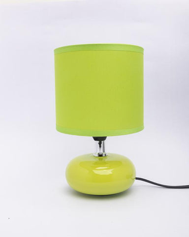 Oval Shaped Green Lamp