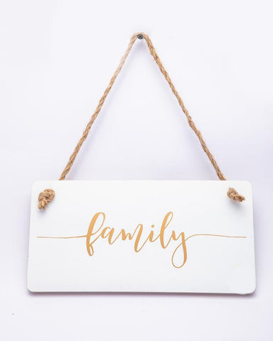 White Family Wall Plaque