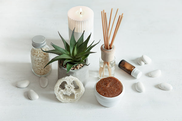 Reed Diffuser with candles and essential oils