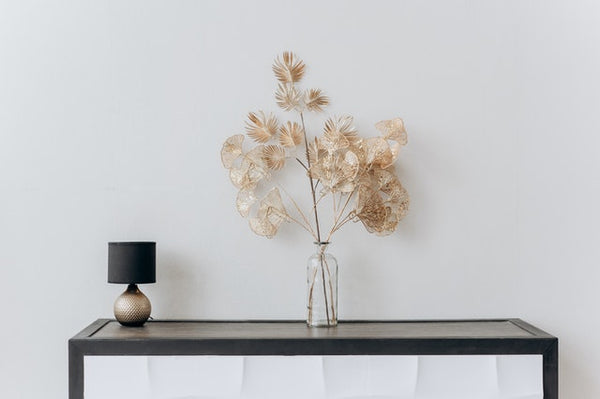 Table Lamp and Golden Plant