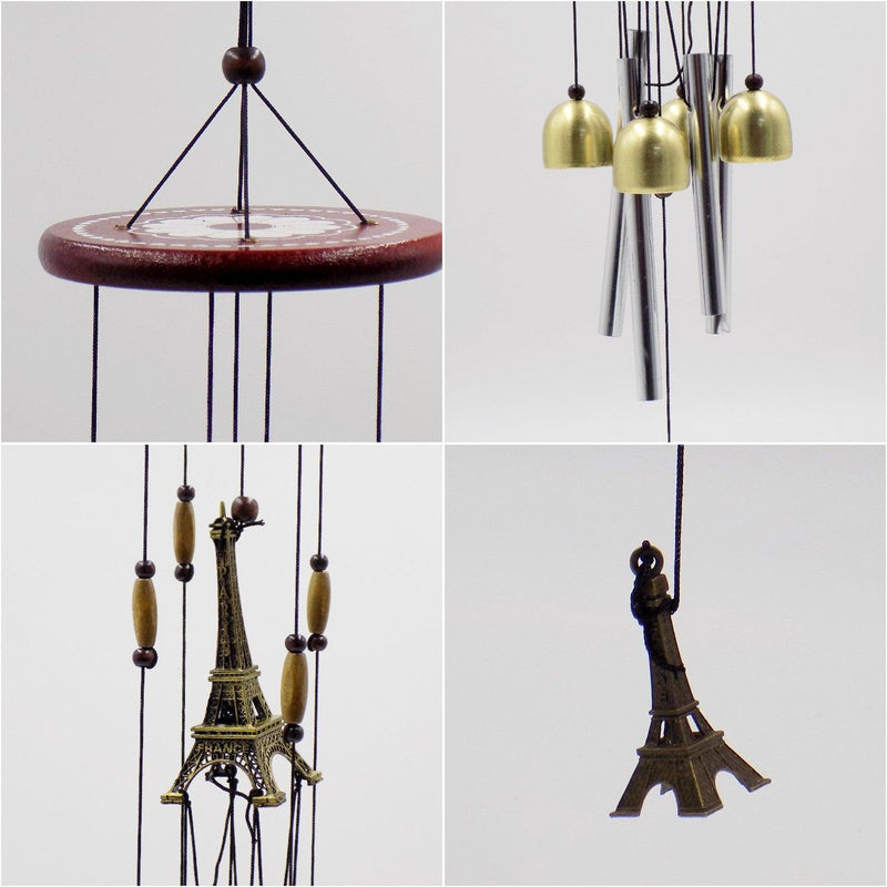 Wind Chimes, Soothing Sound, for Indoor & Outdoor Décor, Silver, Aluminium