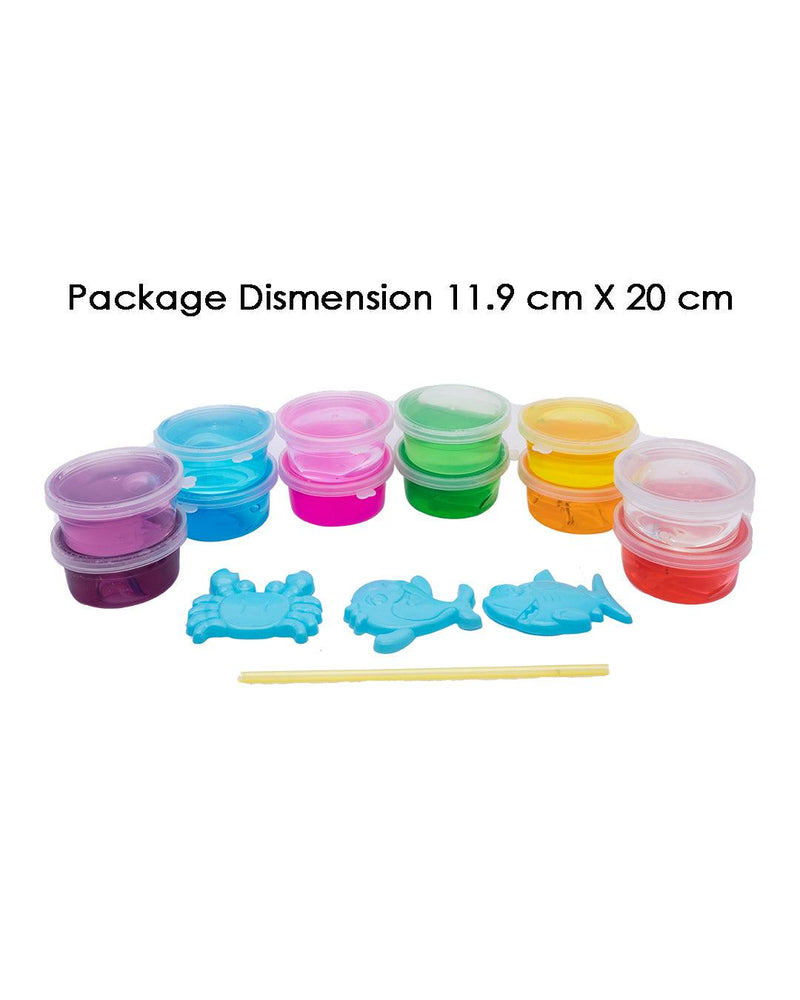 Slime Set, Clay Toys for Kids, DIY, Multicolour, Clay, Set of 12