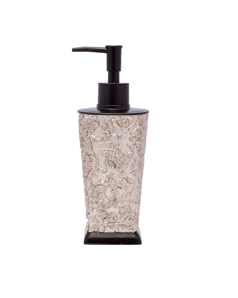 VON CASA Roman Soap Dispenser, Large Size, Hand & Dish Soap Dispenser, Rust Proof Black Pump, Polyresin, 350 mL,