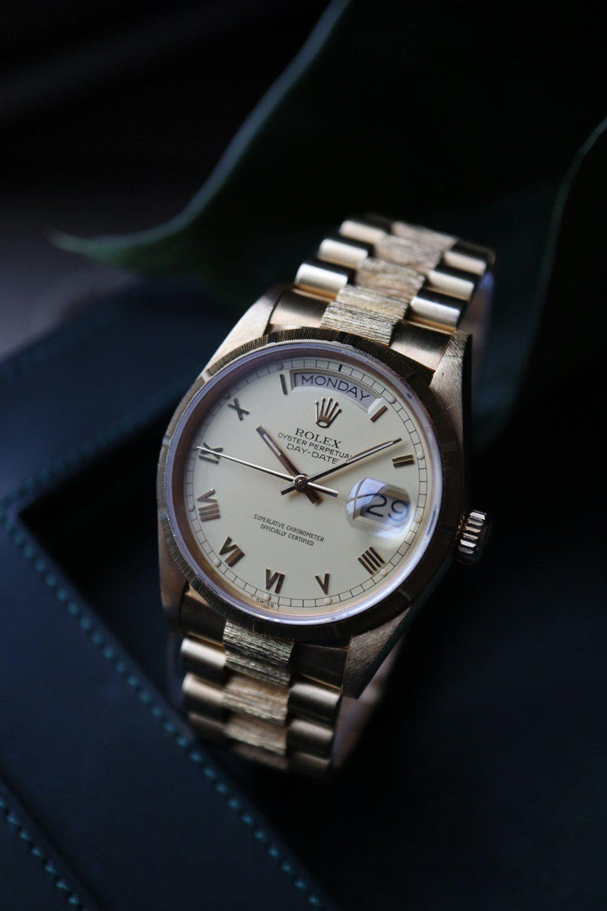 Rolex Day-Date 18078 bark finish (1986)