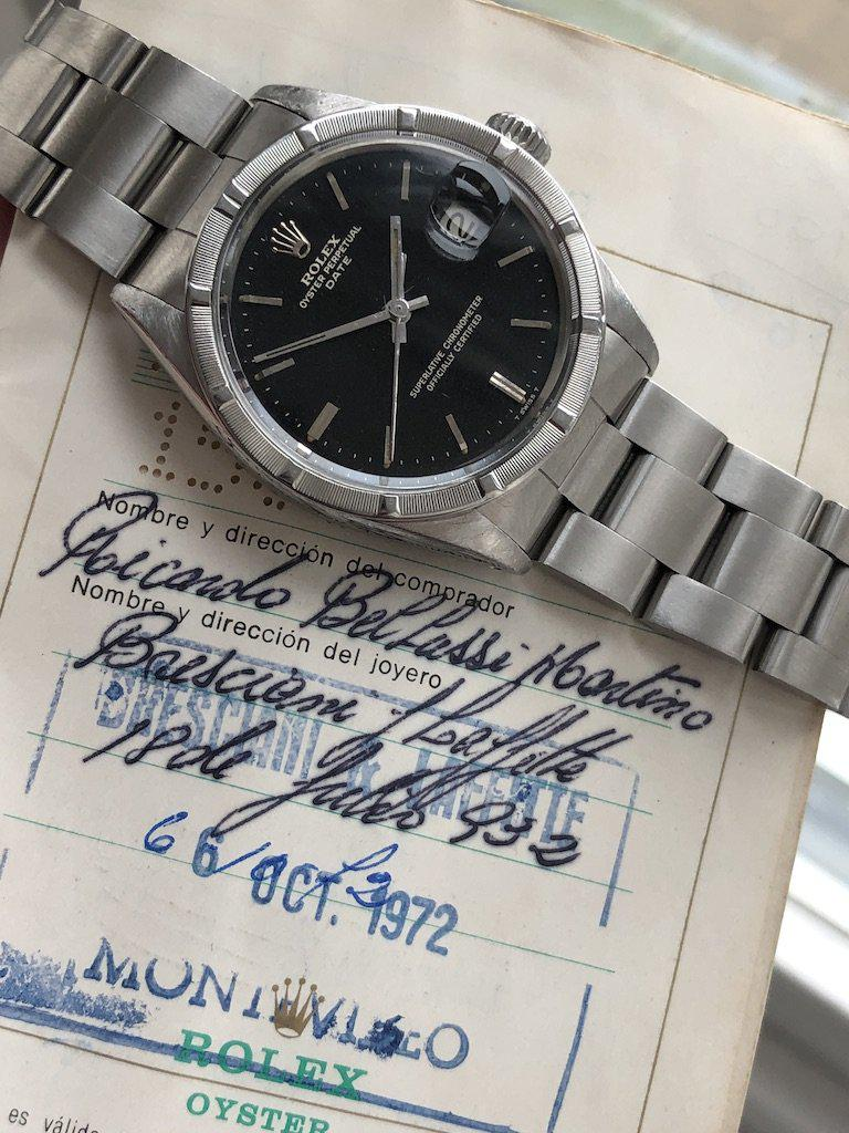 Rolex Date 1501 with papers