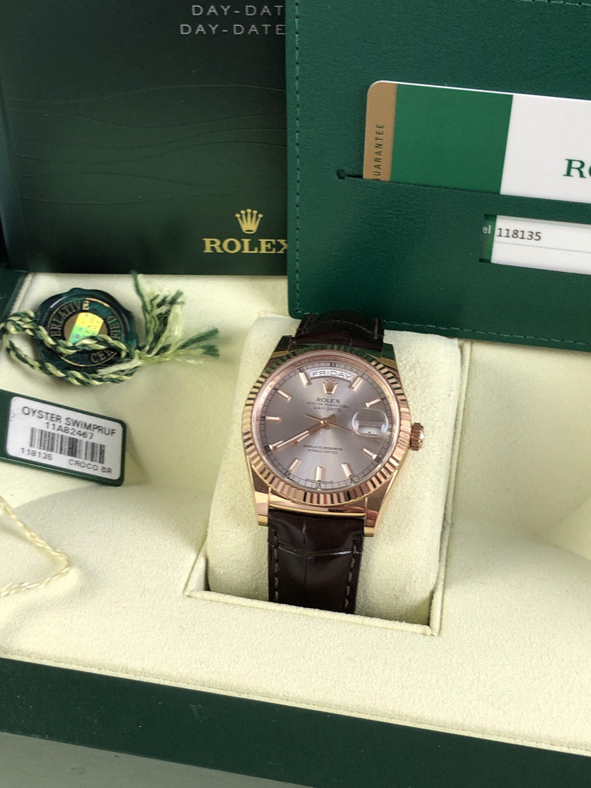 Rolex Day-Date 118135 rose gold (2017)