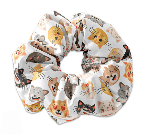NEW Kawaii Cat Faces Scrunchie - Sunfloura Scrunchies