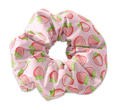 Hand Drawn Strawberry Scrunchie Hair Tie