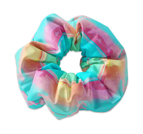 Watercolor Ocean Sunset Pattern Scrunchie - Sunfloura Scrunchies