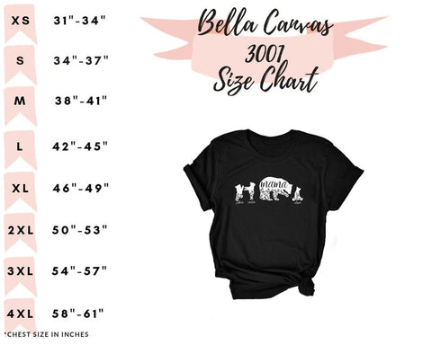 Mama Bear with 1-8 Playful Cubs and Names, Available in 8 Colors - Short Sleeve Shirt, Great Gift for Mom