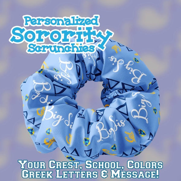 Personalized Sorority Scrunchies
