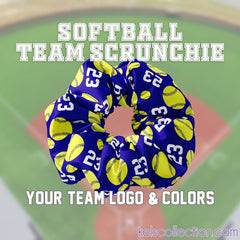 Personalized Sport Scrunchies