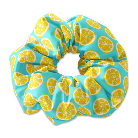 Lemon Slices Scrunchie Hair Tie, When life gives you lemons scrunchy, Lemonade, Summer Fruit Hair Tie, Fruit Scrunchies