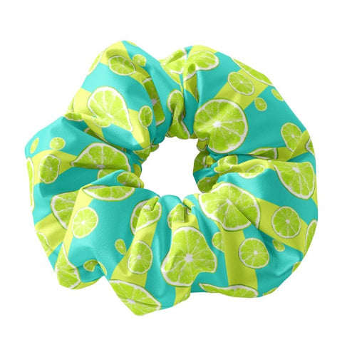 Lime Slices Scrunchie