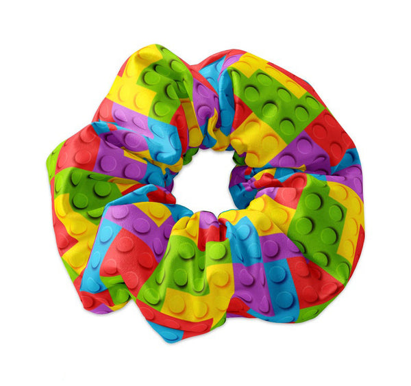 Colorful Building Blocks Scrunchie