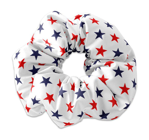 USA Red White and Blue Scrunchie, Independence Day 4th of July Scrunchy Hair Tie