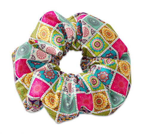 Mandala Collage Scrunchie