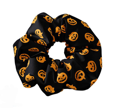 Jack O Lantern Themed Scrunchie - Sunfloura Scrunchies