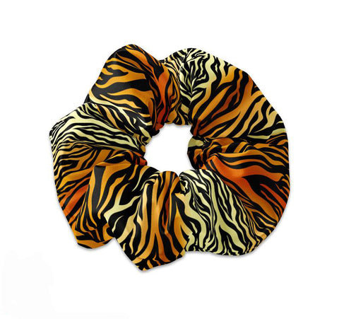 Tiger Stripe Pattern Scrunchie Hair Tie - Sunfloura Scrunchies