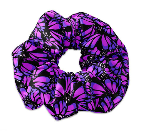 Monarch Butterfly Repeating Pattern Scrunchie Hair Tie - Sunfloura Scrunchies