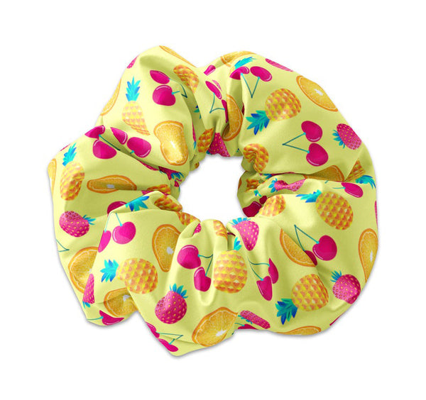 Colorful Summertime Fruit Scrunchie