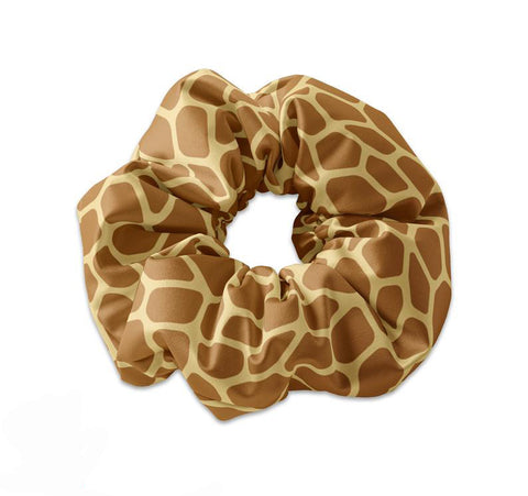 Giraffe Pattern Scrunchie Hair Tie - Sunfloura Scrunchies