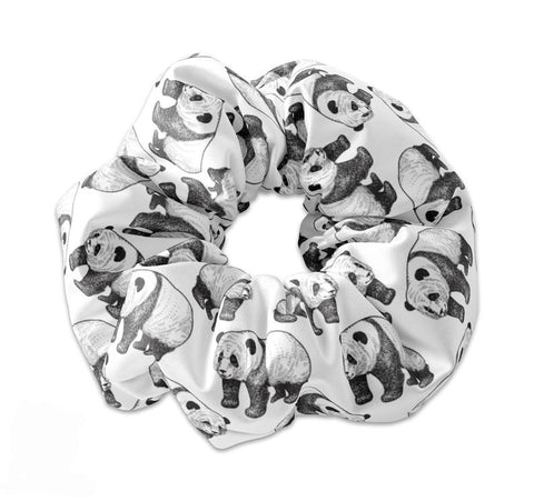 NEW Cute Black and White Panda Scrunchie - Sunfloura Scrunchies