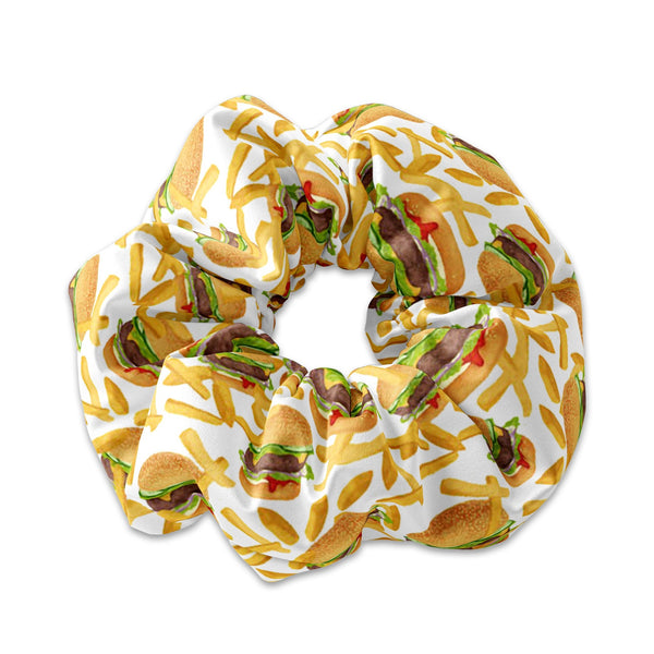 Fast Food Burgers and Fries Scrunchie
