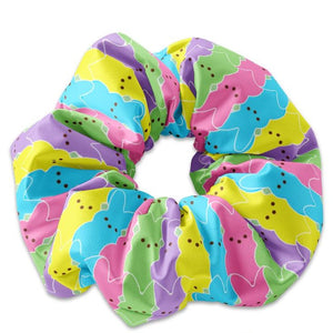 Colorful Peep Easter Bunny Scrunchie